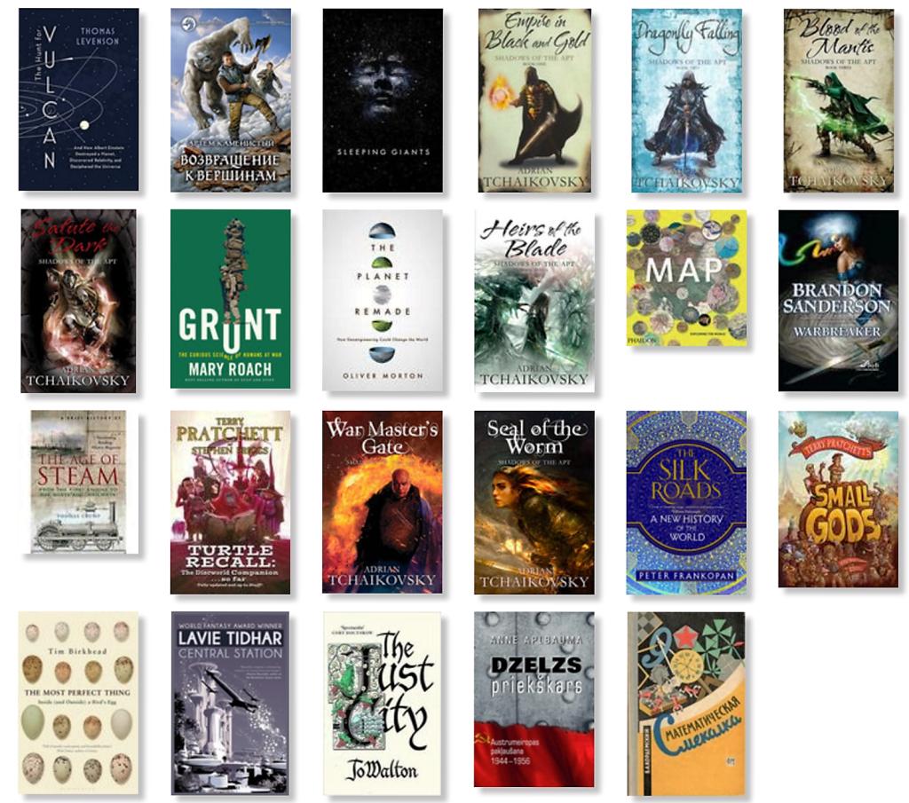Augusta 2016 grāmatas